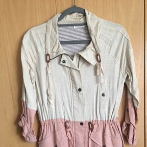 Pink and white Dry Goods jacket